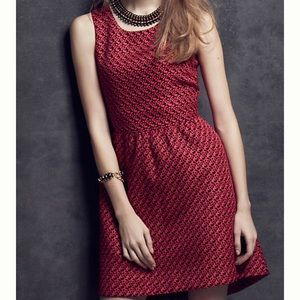 Anthropologie Lili Wang geojacquard print dress